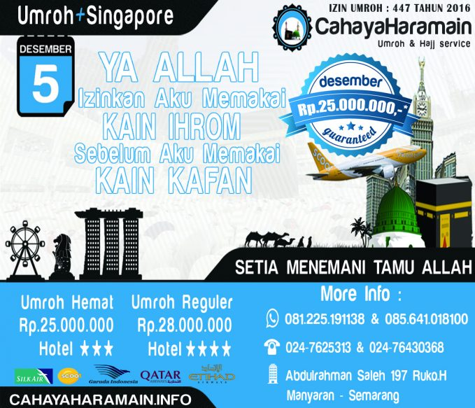 Program Umroh + SIngapore